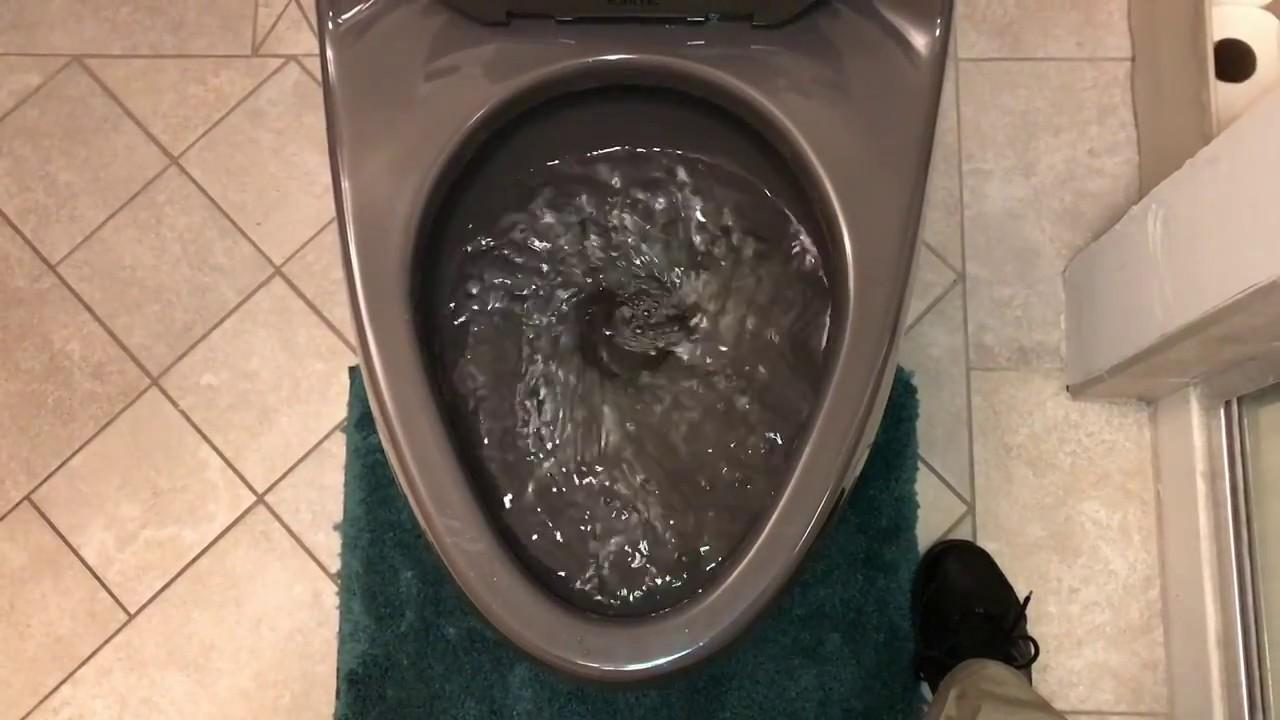 Thunder Grey Kohler San Raphael Toilet