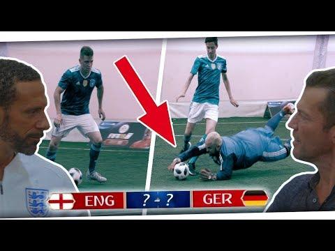 Knochenbruch! Unser Spiel für DEUTSCHLAND vs ENGLAND mit Rio Ferdinand und Lothar Matthäus PMTV