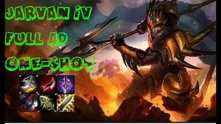 Jarvan IV Full AD ONE-SHOT MID / Джарван 4 МИД / League of Legends Season 8