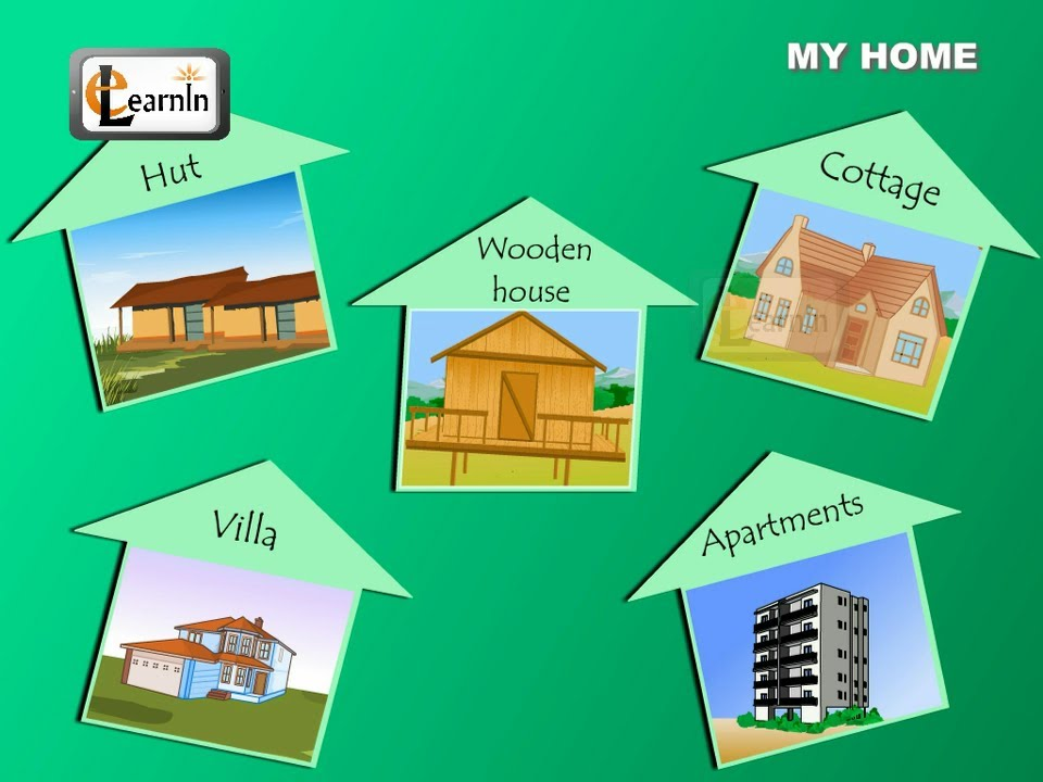 Types of houses elementary science for kids youtube for Different types of houses
