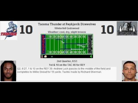 Week 10: Tacoma Thunder (8-1) @ Reykjavík Direwolves (7-2)