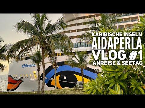 AIDA Vlog #1: Karibische Inseln mit AIDAperla - Anreise & Seetag