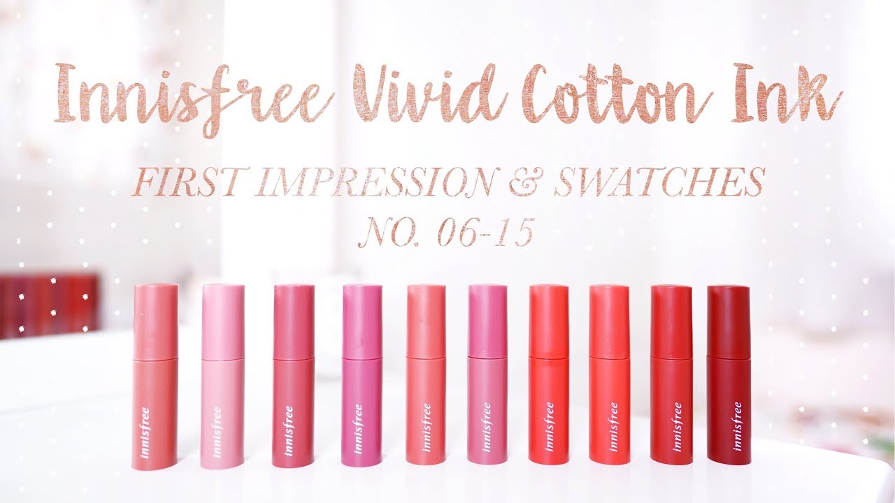 INNISFREE COTTON INK LIP TINT #6-15 FIRST IMPRESSION & SWATCHES|6-15號試色|CAMERAGIRLCARMEN
