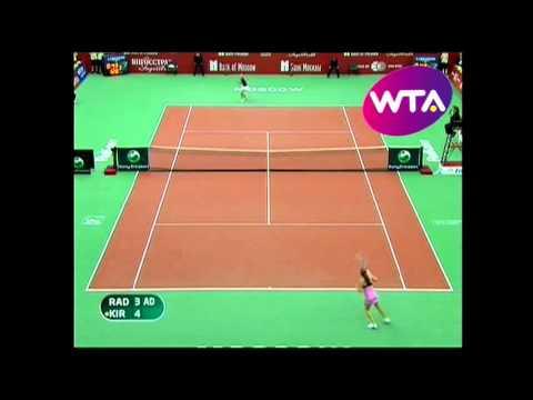 Maria Kirilneko v Aga Radwanska  Wta Moscow Kremlin Cup Highlights
