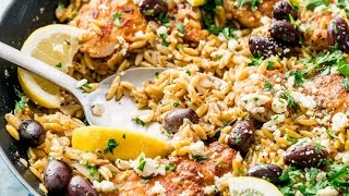 One Pot Greek Chicken and Orzo
