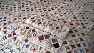 Repeat youtube video Cathedral Window Quilt: Granny Visit, Part II (Gramma)