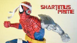 MARVEL LEGENDS RETRO SPIDER-MAN CYBORG SPIDER-MAN TARGET EXCLUSIVE IN HAND!