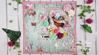 TUTORIAL. Regalo original. Marco de fotos o Layout de scrapbooking. Kora Projects.