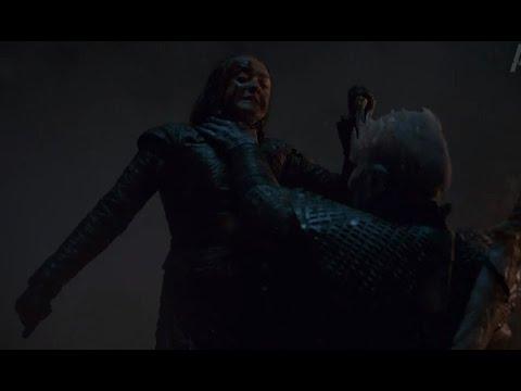 Арья Старк убивает Короля Ночи - Сцена Смерти - Игра престолов, сезон 8 серия 3 (HD)