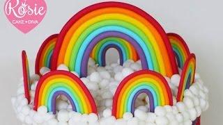 Fondant Rainbow Tutorial - How to make a Rainbow Cake Topper