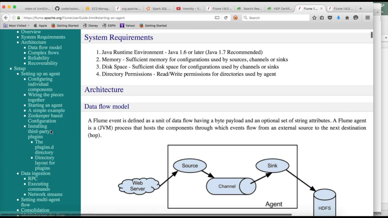 Hadoop Certification Hdpcd Flume Introduction Youtube