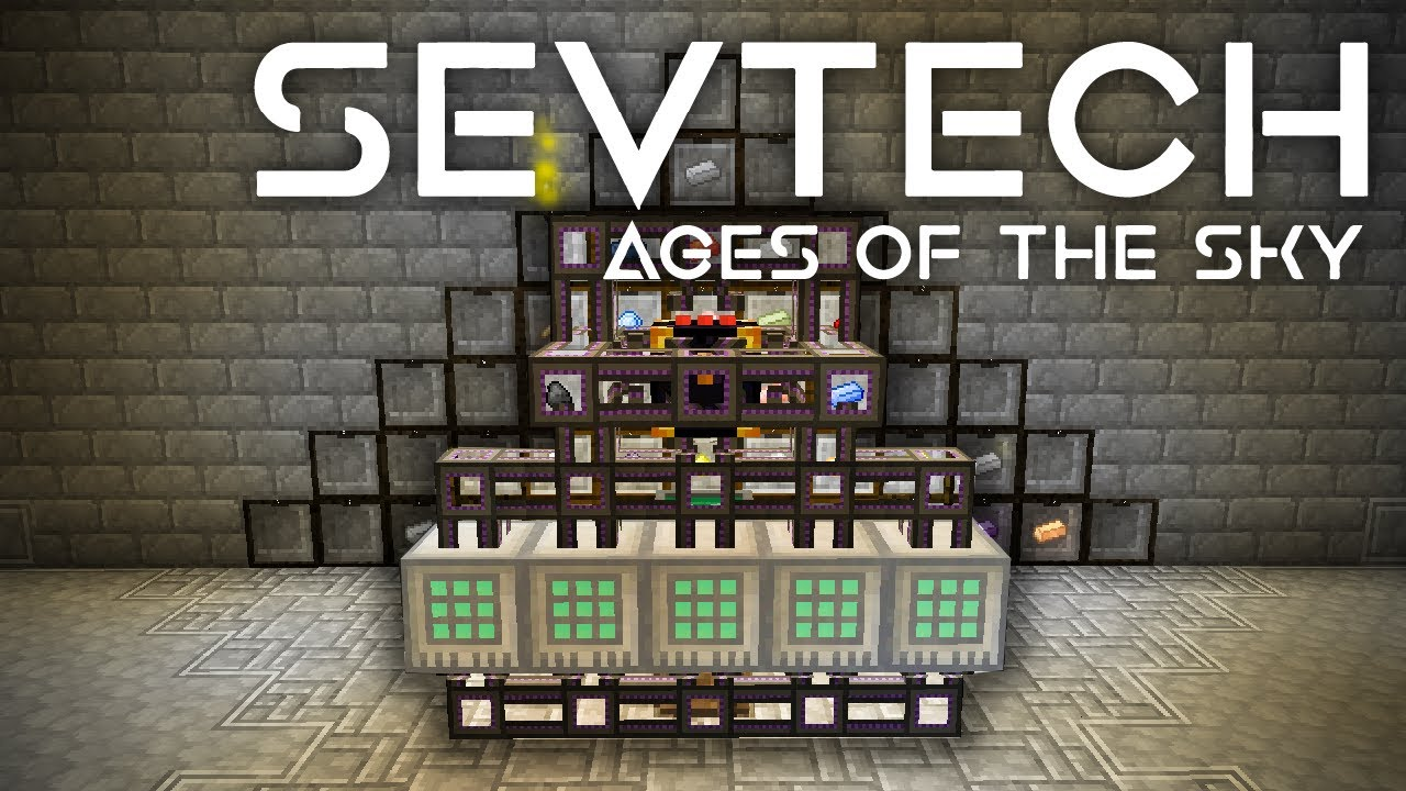 SevTech: Ages of the Sky Ep. 57 Ingot Autocrafting + Paperclip Overload