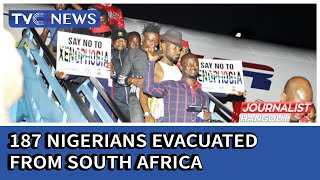 187 Nigerians evacuated from South Africa arrive in Lagos
