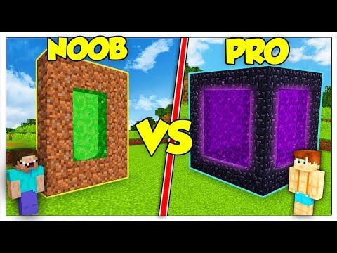 PORTALE NOOB CONTRO PORTALE PRO! - Minecraft ITA