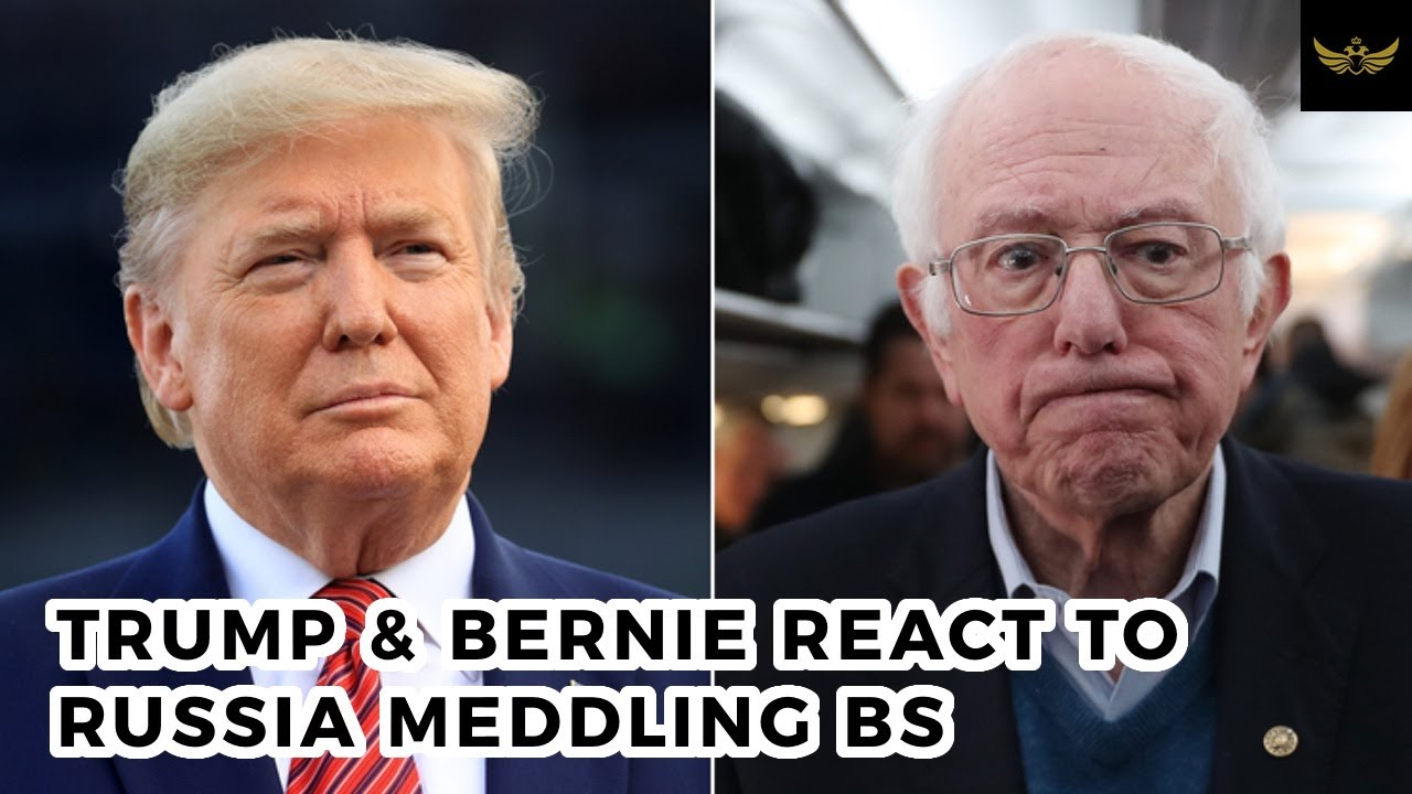 Same, lame Russia meddling BS. Trump & Bernie react in completely different ways