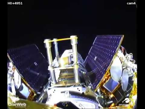 VS21 Onboard cameras provide a rocket's view of the 1st launch for OneWeb constellation-