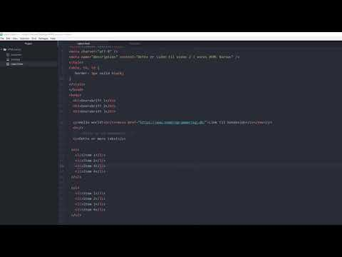 HTML Kursus For Begyndere #6 | Lister I HTML