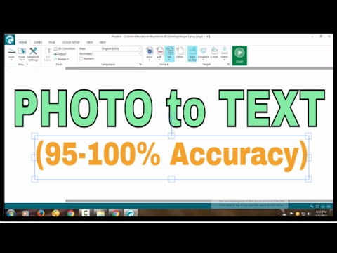 Convert PDF and photo files to text