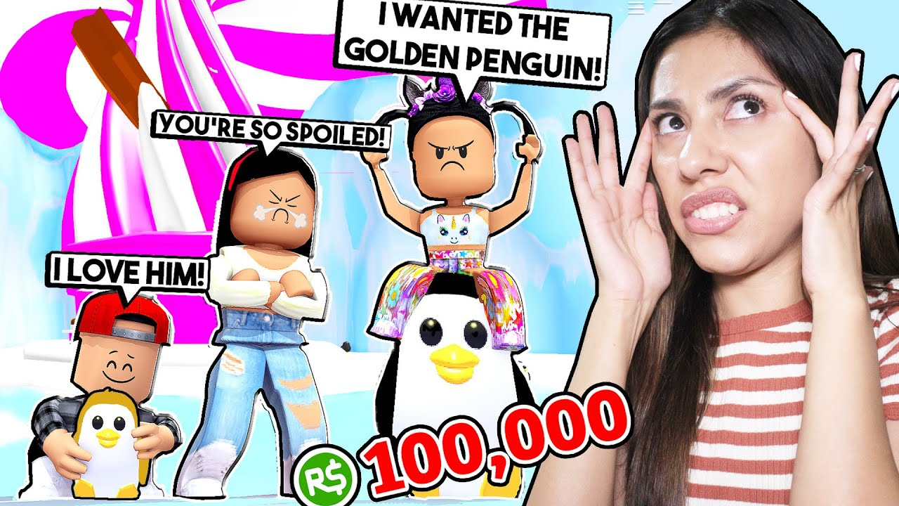 My Spoiled Daughter Made Me Spend All My Robux On A Golden Penguin