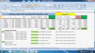 Salary Entries Posting, Payroll, Tally Payroll Entries posting, Tally Material