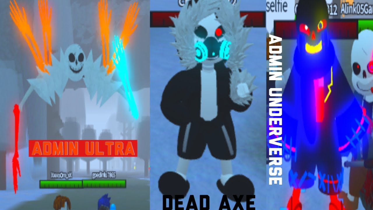(ROBLOX) Undertale Au Monster Survive Fight - Admin Morphs With CrazyTNT312