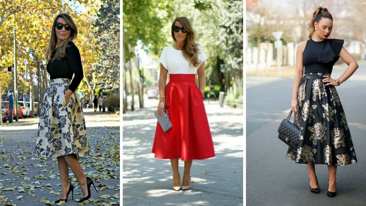 b16e10c83 FALDAS AMPLIAS ♥  Moda  Fashion  Faldas - YouTube