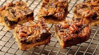 Chocolate Pecan Pie Bars - Marcel Cocit - Love At First Bite Episode 32
