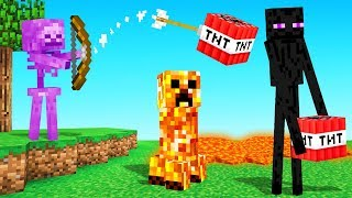 MINECRAFT But The Mobs Are CURSED!