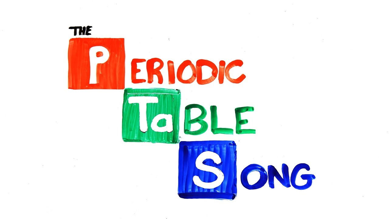 The Periodic Table Song Youtube