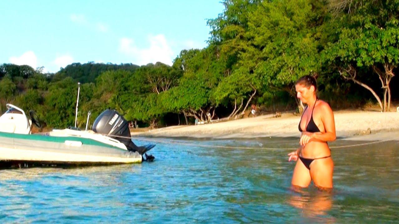 Backyard Scenes - Sunset Swim at a Secret Beach in Grenada ...