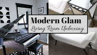 Living Room Furniture Unboxing | Affordable Glam Home Decor