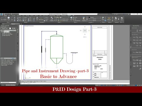 Basic To Advance- Pipe And Instrument (P&id) Design Using AutoCAD P&id