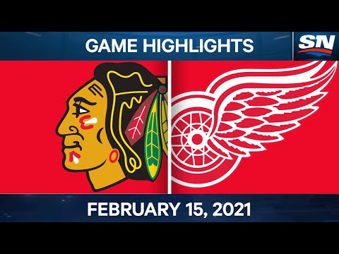 NHL Game Highlights | Blackhawks vs. Red Wings - Feb. 15, 2021
