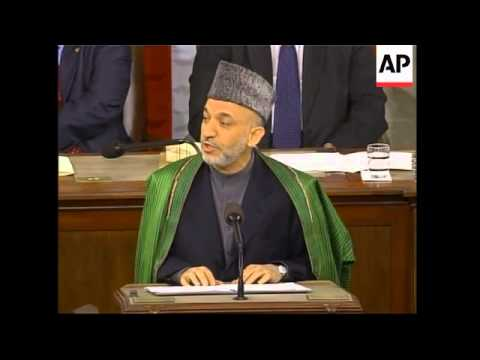 Afghan president addresses US Congress