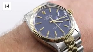 rolex oyster perpetual vintage datejust 1601 luxury watch review