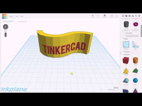 Tinkercad: text on surface