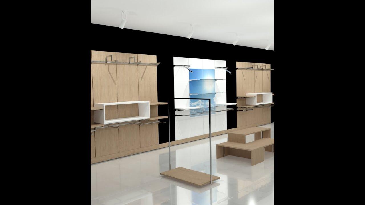 Arredamenti per negozi abbigliamento su misura 002 rev for Arredamenti per negozi abbigliamento