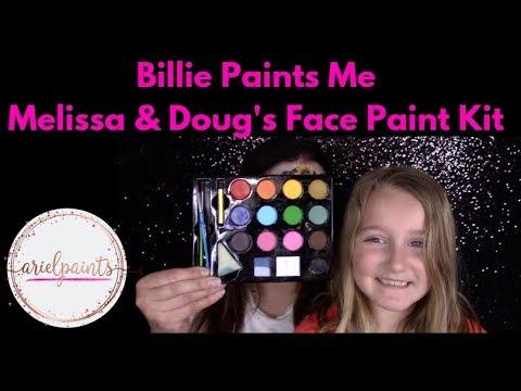 Billie Paints Me with Melissa and Doug's face painting kit for kids ~ Arielpaints