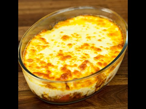 Chicken And Potato Casserole With Bechamel Sauce