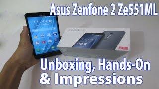 Asus Zenfone 2 Ze551ML 4GB-64GB Unboxing, Hands-on & Impressions !!