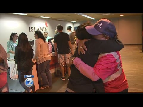 Hugs shared, tears shed as Island Air employees say goodbye