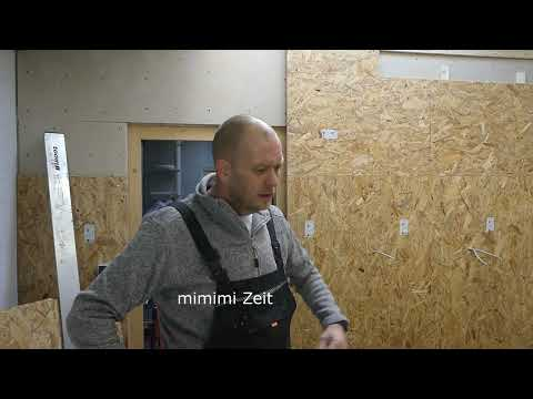 wand verkleiden mit osb platten in der werkstatt youtube. Black Bedroom Furniture Sets. Home Design Ideas