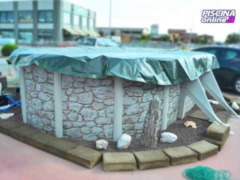 Copertura e chiusura invernale per piscina fuoriterra for Asciugacapelli a parete per piscine