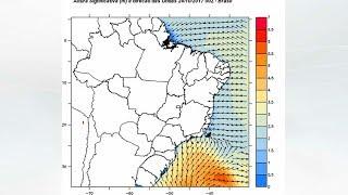 Ciclone extratropical deixa mar agitado no Sul e no Sudeste