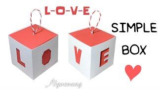 """Simple box - Hộp quà chữ """"L-O-V-E"""" - NGOC VANG Handmade"""