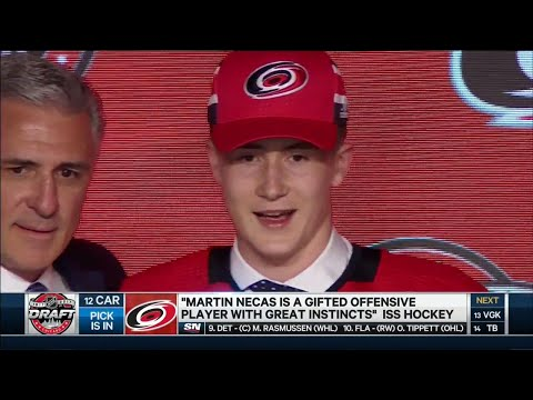 Martin Necas drafted 12th by Hurricanes
