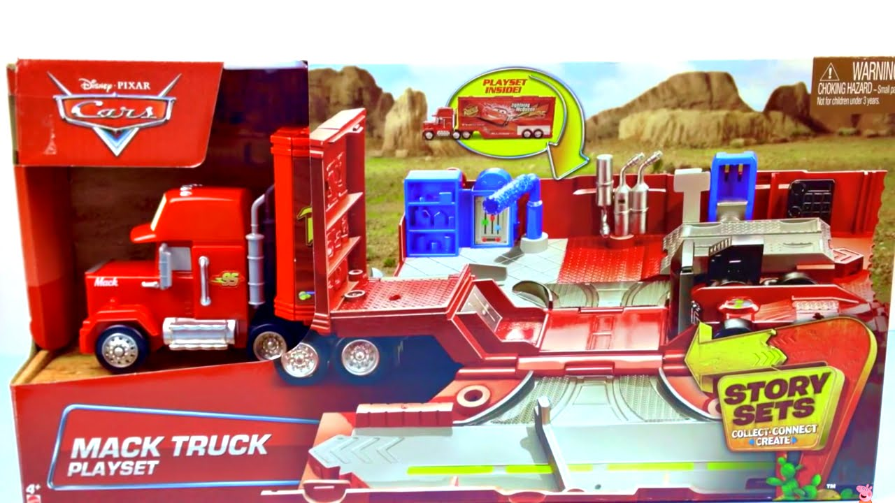 Disney Cars Mack Truck Playset Story Set And Radiator Springs