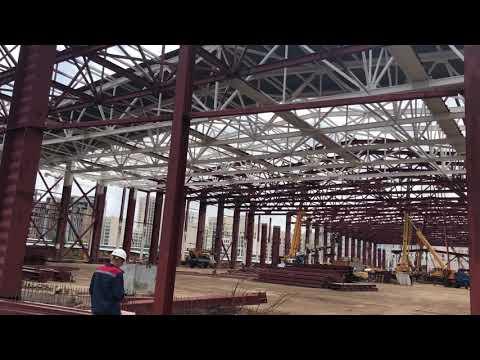 Монтаж металлоконструкций Международного выставочного центра в Нур-Султане