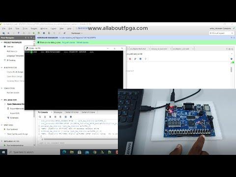 Learn FPGA 13: 4x4 Multiplier output displaying on UART Serial Terminal using EDGE Artix 7 FPGA kit