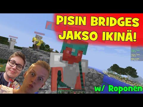 Minecraft Bridges: PISIN BRIDGES JAKSO IKINÄ!! w/ Roponen